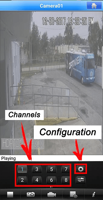 App MEye Channel configuration