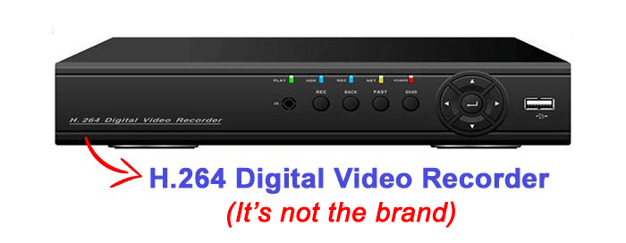 H.264 DVR is not a brand