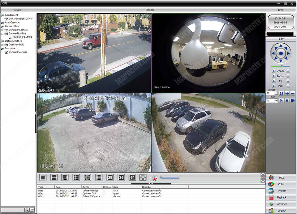 Software for Multiple CCTV DVR (works with H 264 DVR