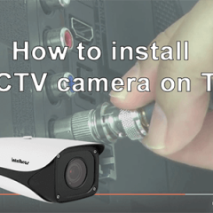 How to install CCTV camera in TV