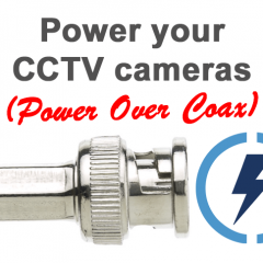 Power over Coax for CCTV cameras
