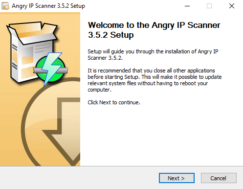 Angry IP Scanner Installation 01