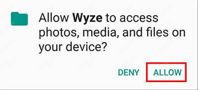 Wyse Cam V2 App Allow Media Access