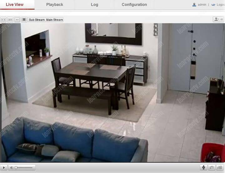 Access Hikvision camera via the Web-browser