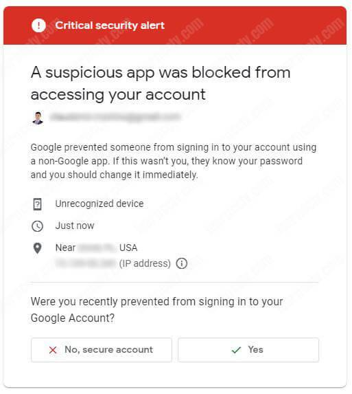 Google security check