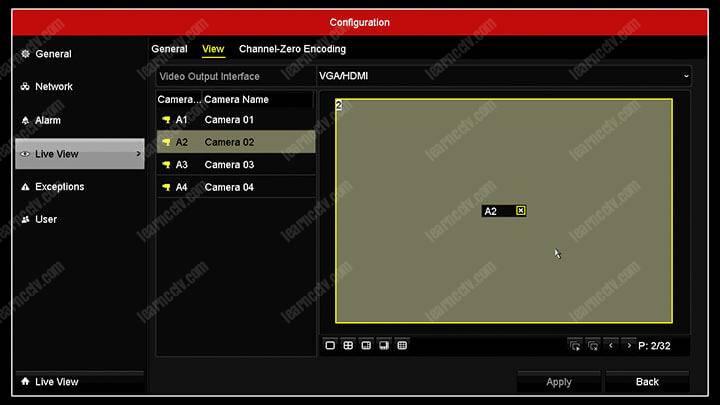 Hikvision DVR Channel 02 Display