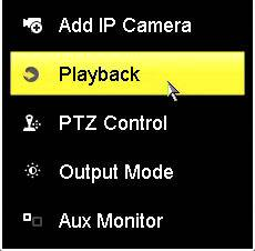 Hikvision DVR Playback Menu