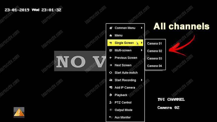 DVR Hikvision tất cả các kênh