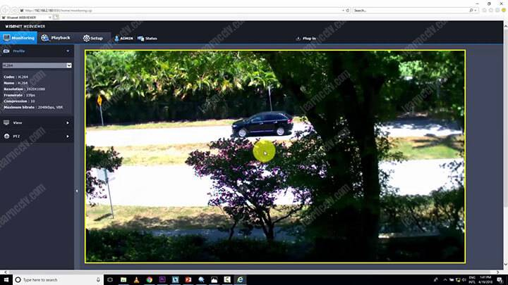 IP security camera in a web-browser