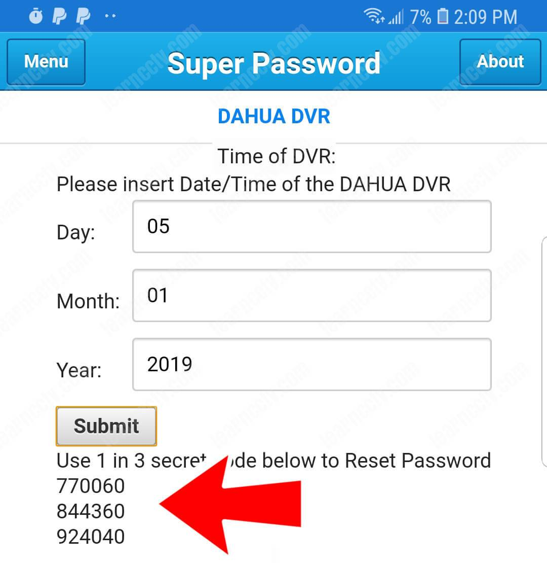 Mobile DVR Reset Tool