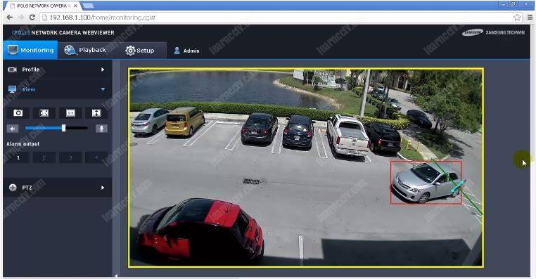 Video analytics on an IP camera