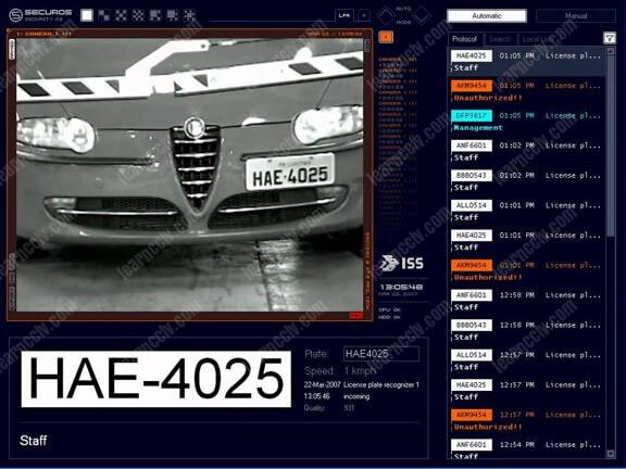 License plate recognition software