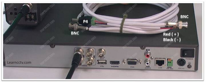 DVR and coaxial cable