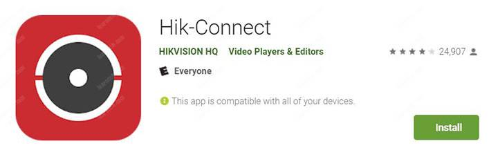 Hik-connect app installation