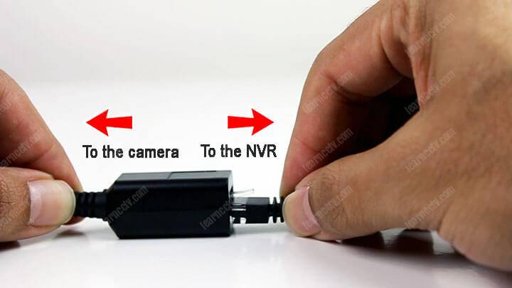 Security camera RJ45 connector