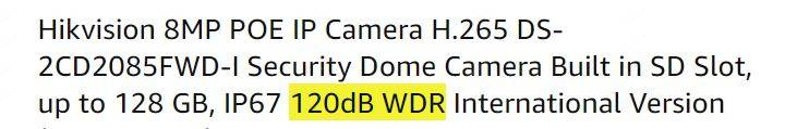 WDR Security Camera