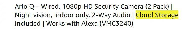 Wired Security camera system with cloud recording