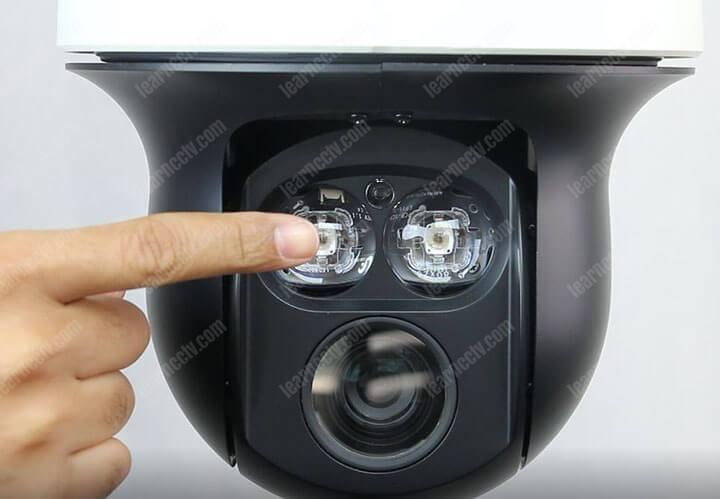 PTZ camera LED