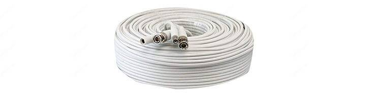 Coaxial cable for security cameras