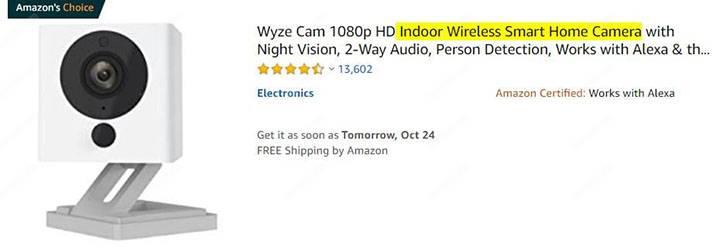 Wyze Indoor Security Camera