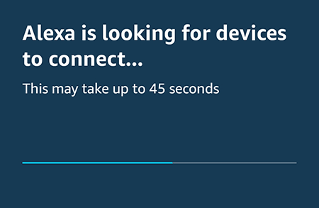 Alexa looking for devices