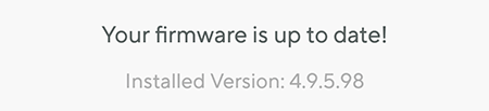 Firmware is up to date