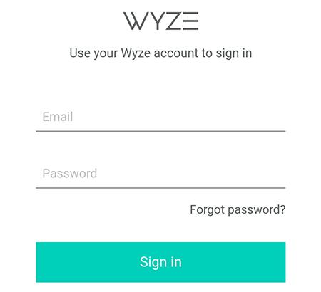 Wyze Cam Authentication