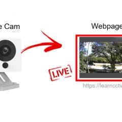 Wyze cam on webpage