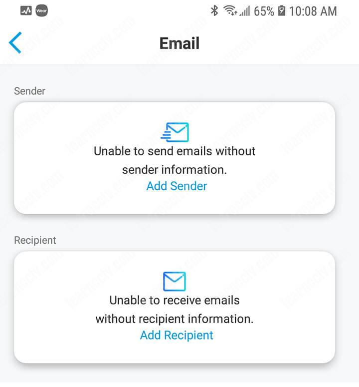 Email Sender and Recipient