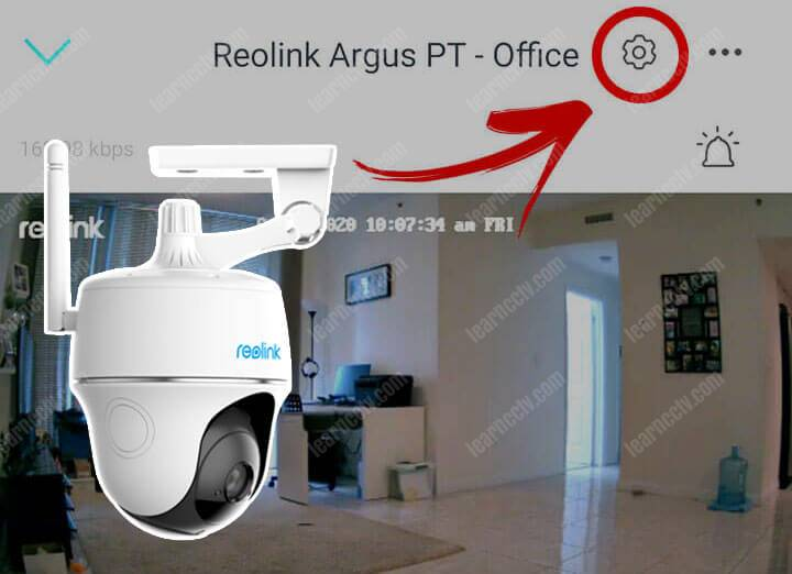 How to Setup the Reolink Argus PT email