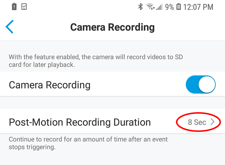 Micro SD Card Recording