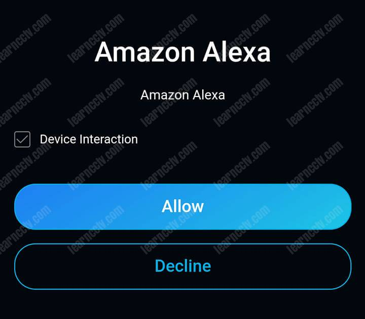 Reolink and Alexa Account interaction