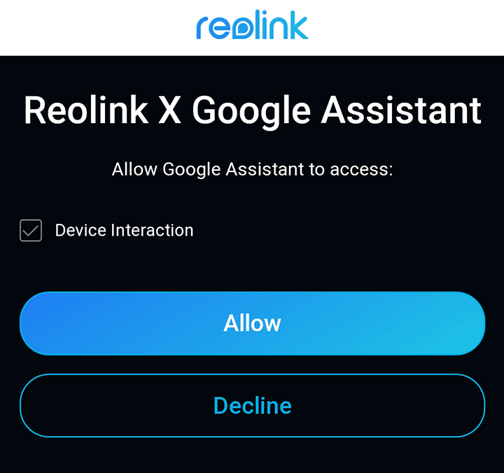 Reolink and Google Home Assistant