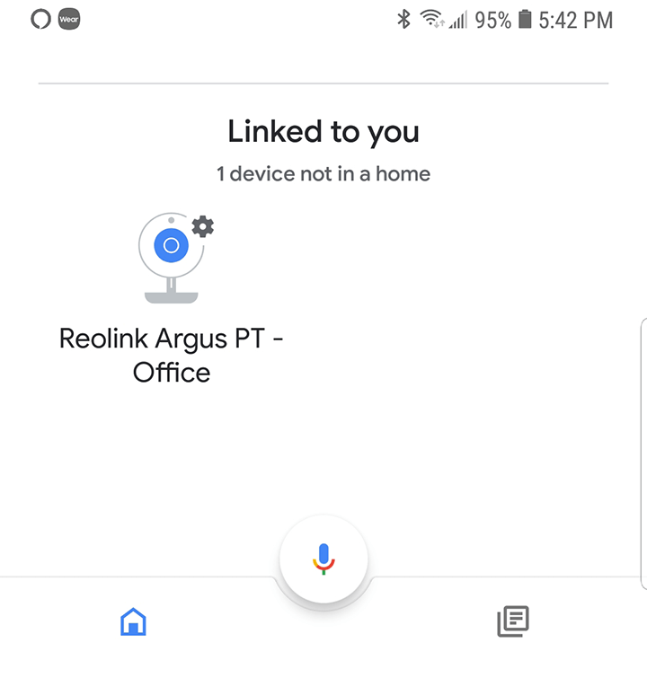 Reolink camera linked to Google Home