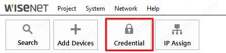 Wisenet Device Manager Credentials