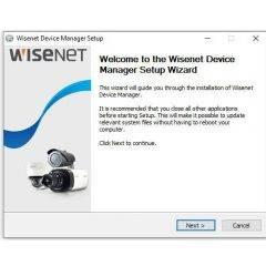 Wisenet Device Manager Setup