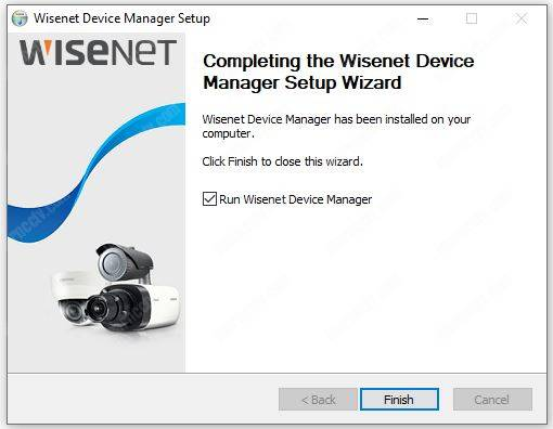 Wisenet Device Manager install 04