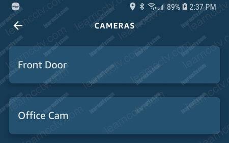 Alexa Front Door Office Cam