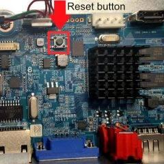 Amcrest NVR Reset button