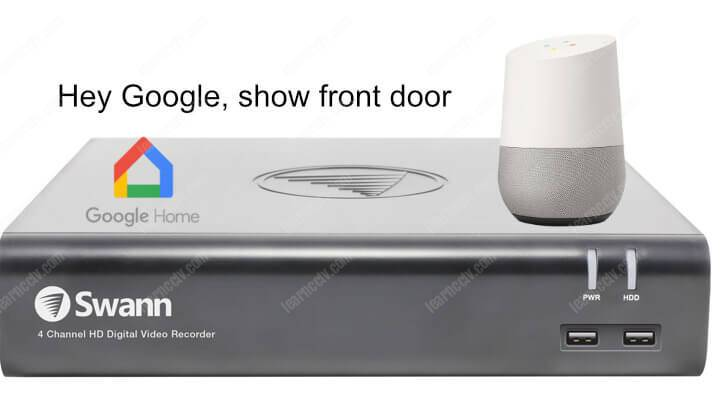 Connect Swann camera to Google Home
