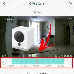 How to use the Wyze Cam Playback