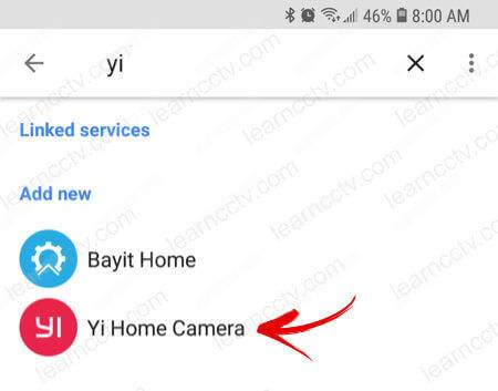 Yi camera Google Home