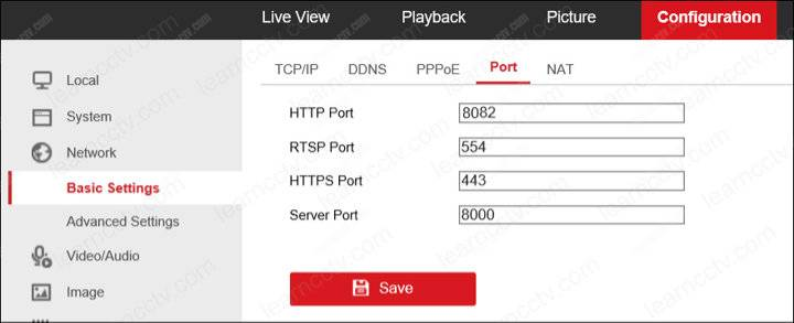 Hikvision port numbers