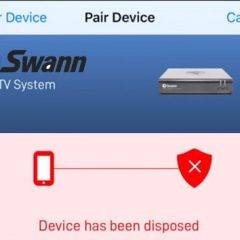 swann device has been disposed