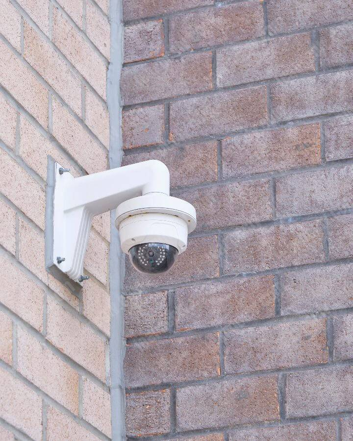 how you can install security cameras on brick