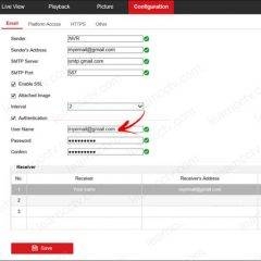 Hikvision-notification via gmail - Advanced settings