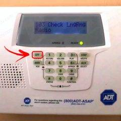 ADT Keypad Off button