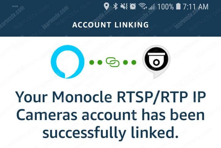 Kỹ năng Alexa Monocle được liên kết