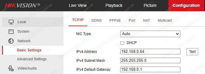 Địa chỉ IP Hikvision