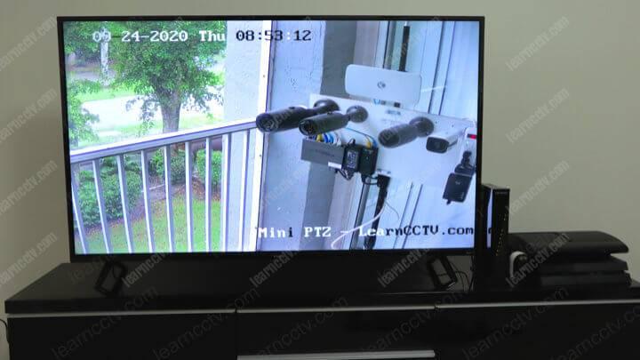Hikvision Mini PTZ- Camera on a Roku-TV